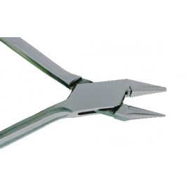 LIGHT WIRE PLIER WITH INSERTED TIPS (W/O GROOVES)